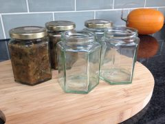 sterilising glass jars